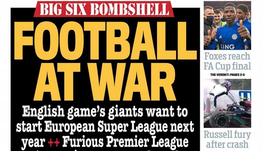 Ευρωπαϊκός Τύπος: «Πόλεμος στο ποδόσφαιρο» (pics)