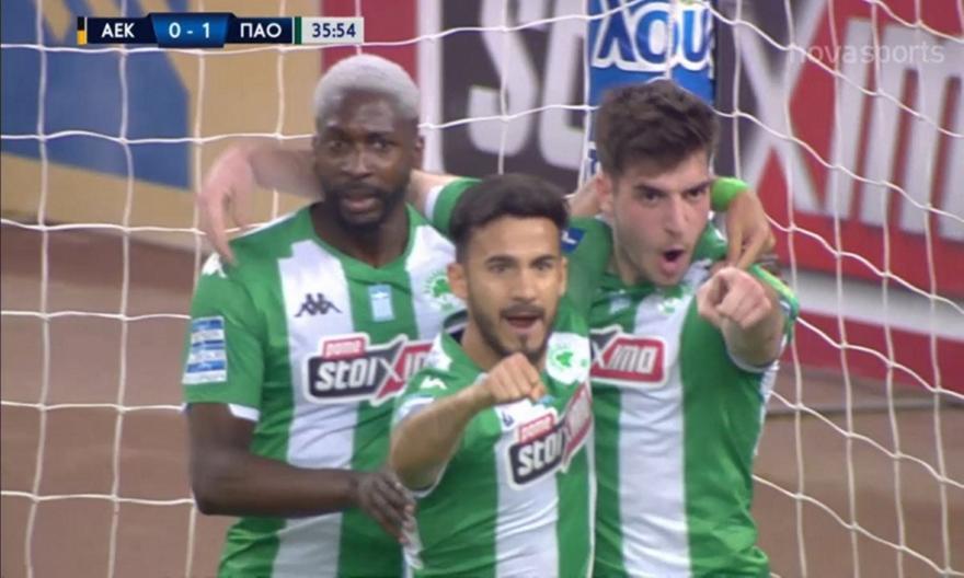 ΑΕΚ-Παναθηναϊκός: Το 0-1 με Ιωαννίδη (video)