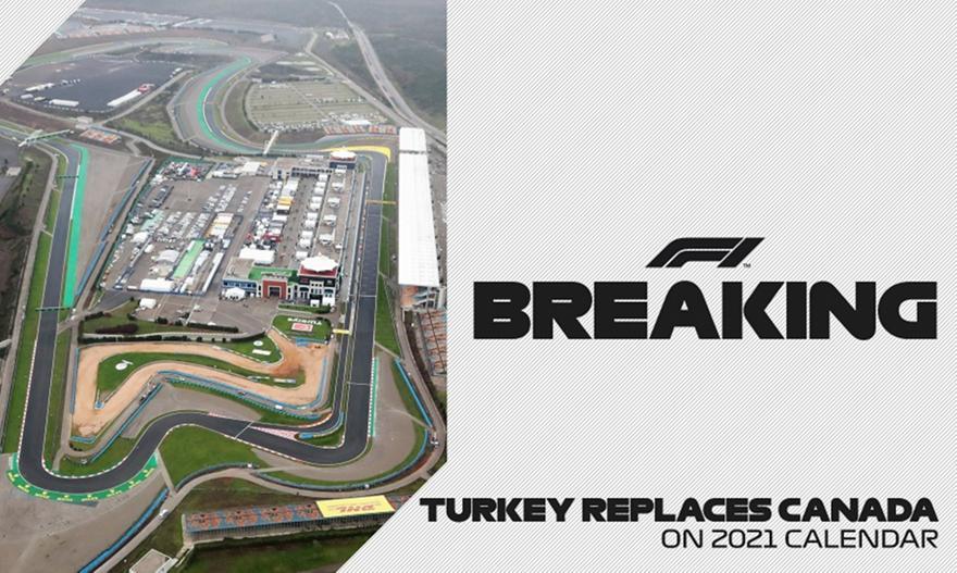 Η Τουρκία στη θέση του Καναδά στη Formula 1
