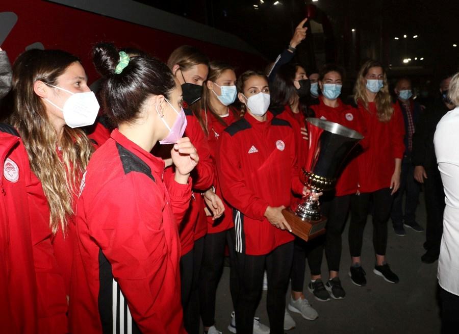 Ολυμπιακός: Η υποδοχή των πρωταθλητριών Ευρώπης