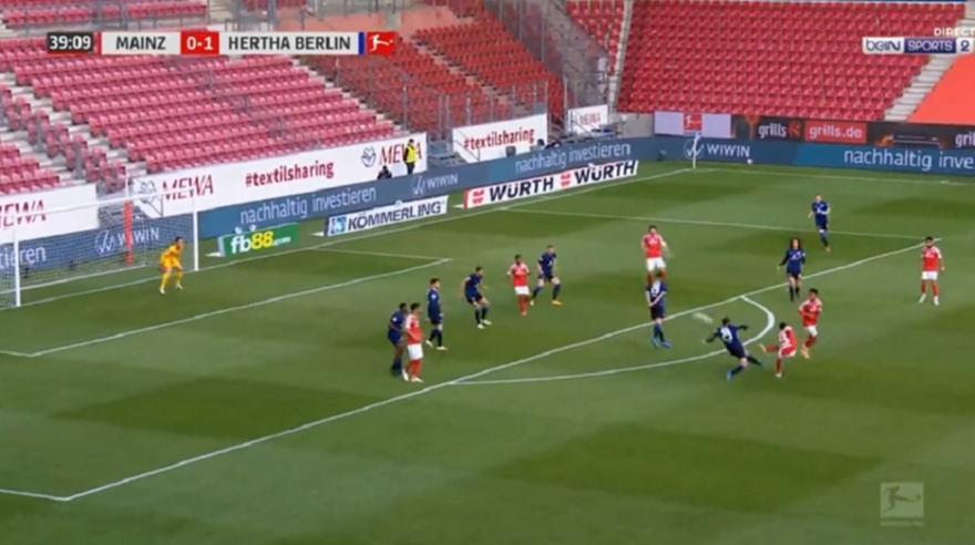Μάιντς-Χέρτα: 1-1 με φοβερή γκολάρα του Εμβένε