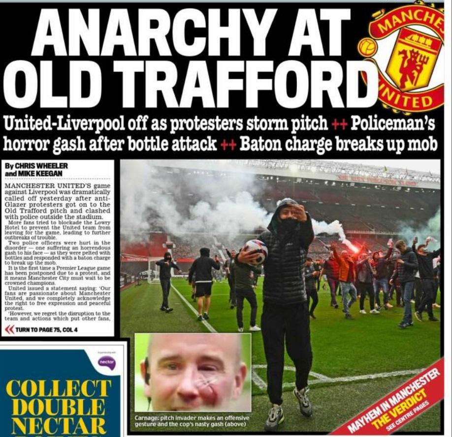 Αγγλία: Τα ΜΜΕ για την εισβολή στο «Ολντ Τράφορντ»
