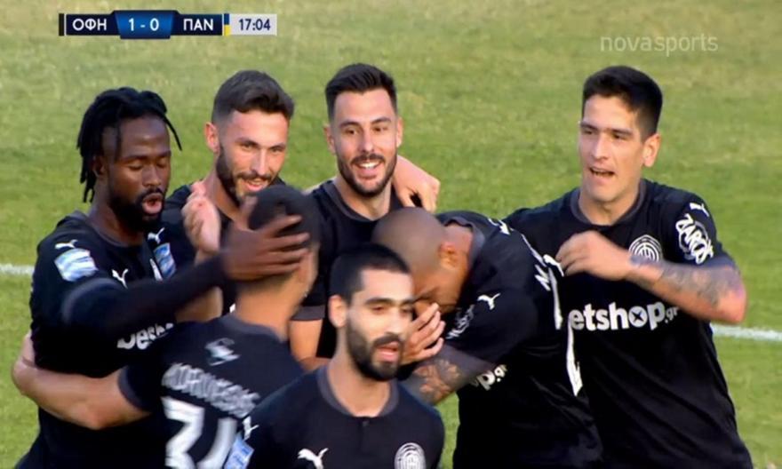 ΟΦΗ-Παναιτωλικός: Χάθηκε η μπάλα στο γκολ του Σαρδινέρο για το 1-0