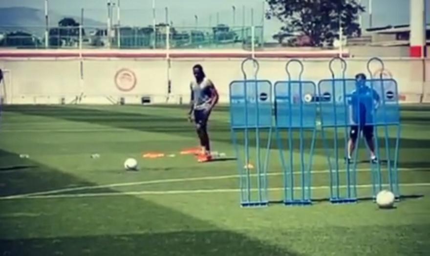 Σεμέδο: Γκολ με απευθείας φάουλ στην προπόνηση