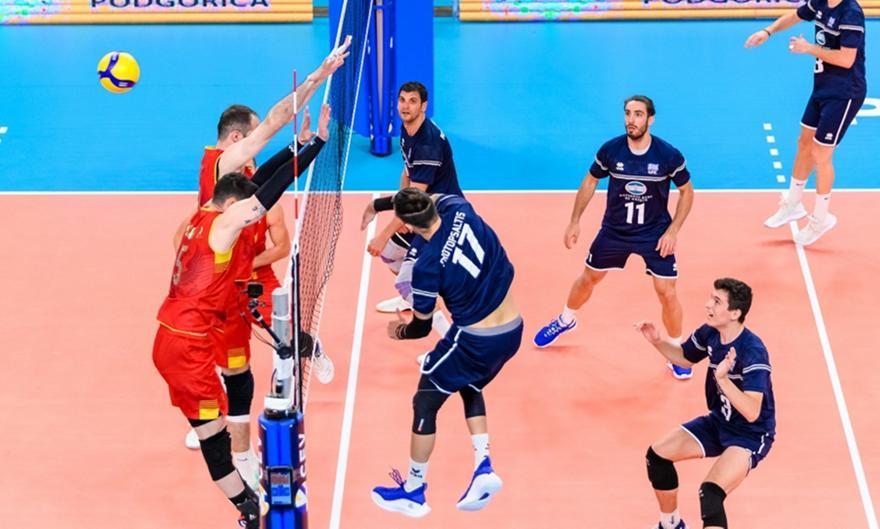 Ελλάδα-Μαυροβούνιο 0-3 σετ