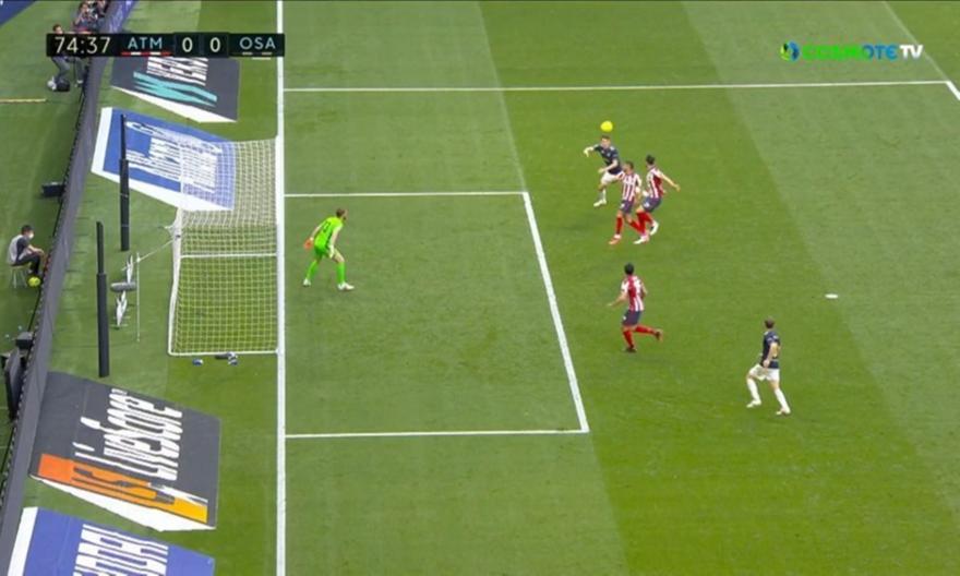 Ατλέτικο Μαδρίτης-Οσασούνα: Το 0-1 με τον Μπούντιμιρ