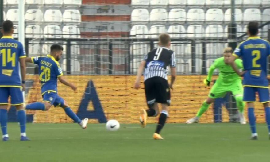 Ο Γκόμεθ νικάει με τη... δεύτερη τον Πασχαλάκη από το σημείο του πέναλτι για το 0-1 του Αστέρα