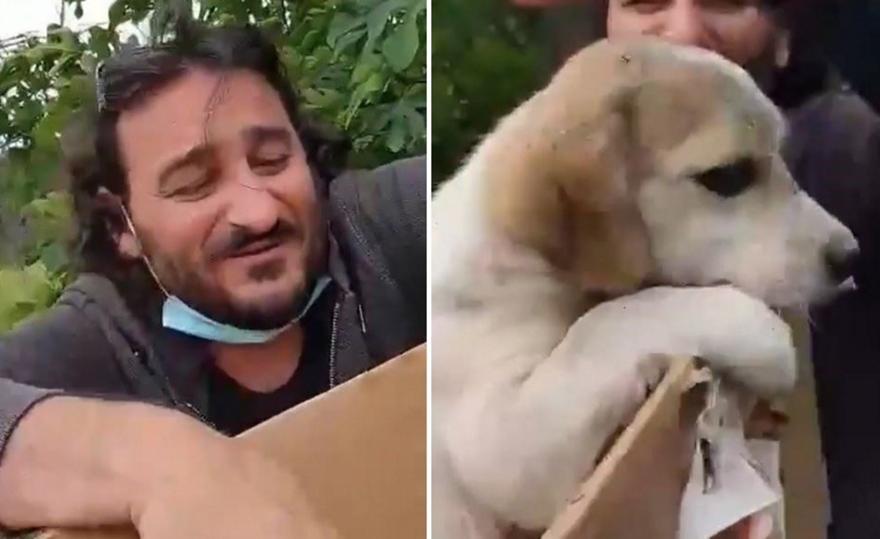 Ο Χαραλαμπόπουλος μπήκε σε κάδο για να σώσει κουτάβι