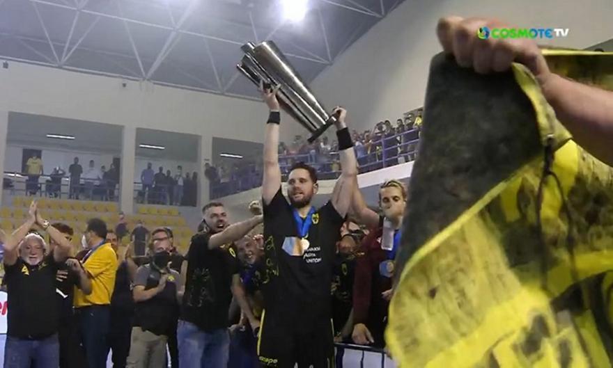 ΑΕΚ: Η απονομή για το EHF European Cup