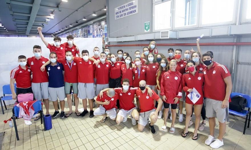 Ολυμπιακός: Πρωταθλητής στην κολύμβηση για 62η φορά