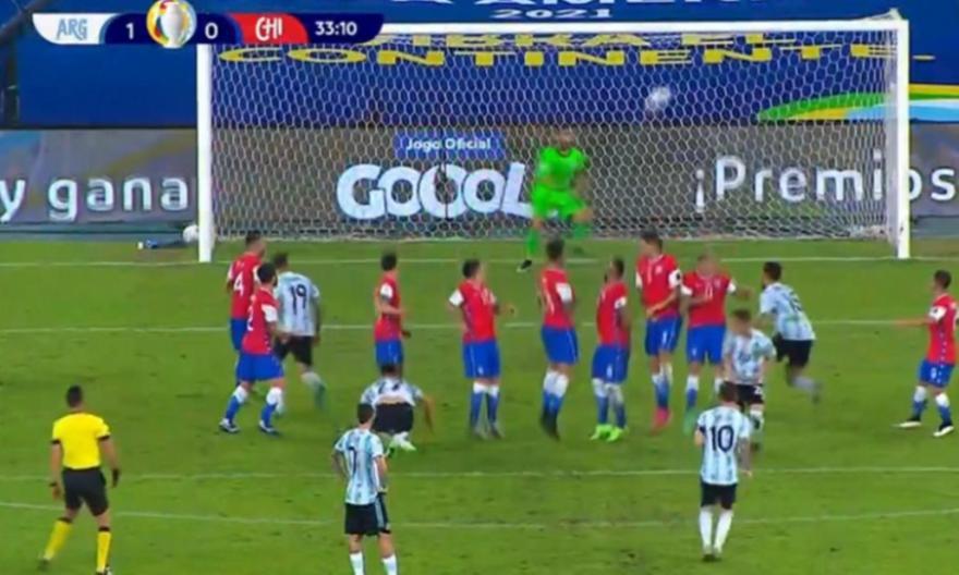 Αργεντινή-Χιλή: Το γκολ του Μέσι