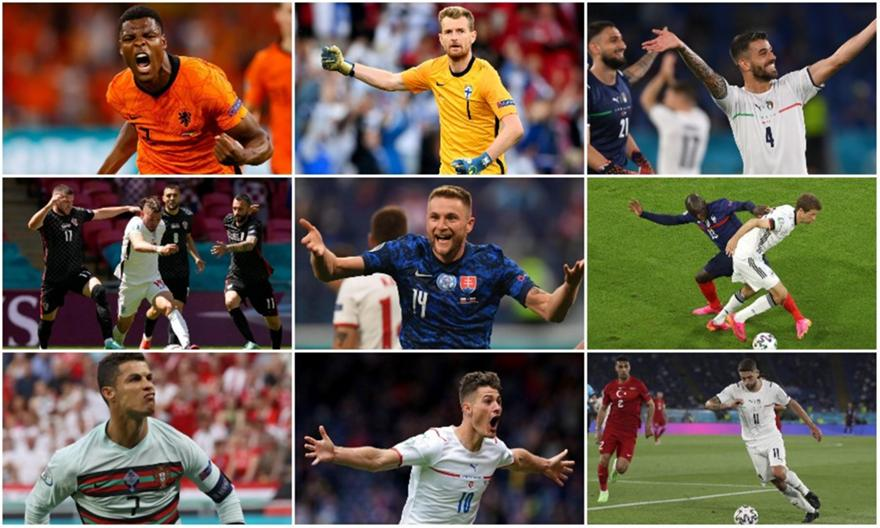 Euro 2020: Η κορυφαία ενδεκάδα της πρώτης αγωνιστικής