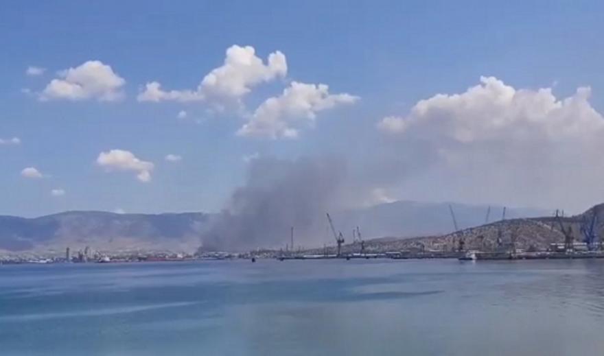 Ασπρόπυργος - Φωτιά βυτιοφόρο: Μήνυμα 112 στους πολίτες