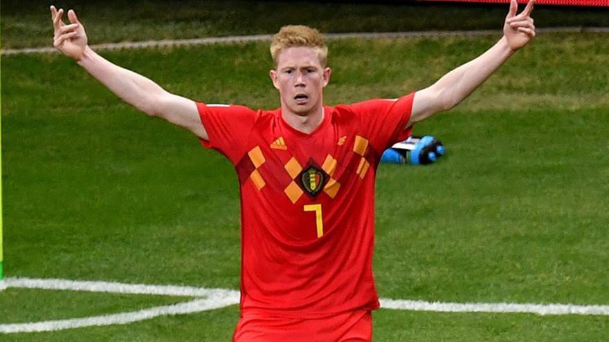 Ντε Μπρόινε: «Χάρηκα για το γκολ, αλλά σεβάστηκα τους φιλάθλους της Δανίας και δεν πανηγύρισα»