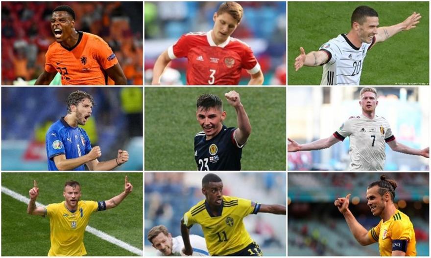 Euro 2020: Η κορυφαία ενδεκάδα της δεύτερης αγωνιστικής
