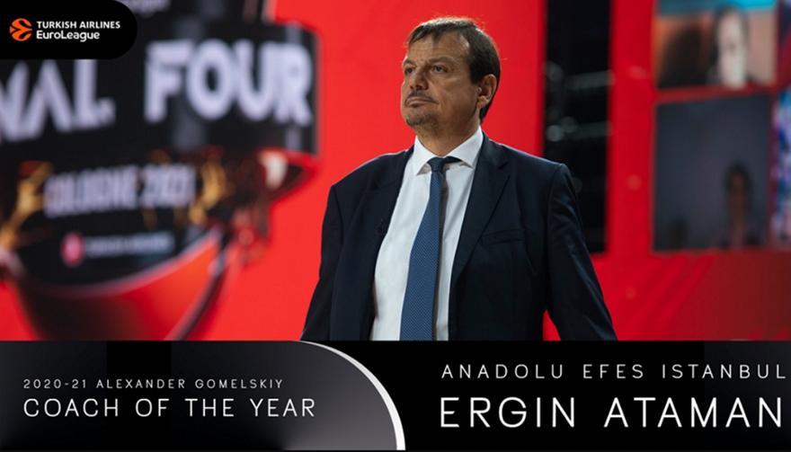 Προπονητής της χρονιάς στην Ευρωλίγκα ο Αταμάν