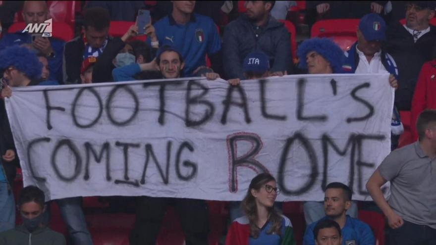«Football's coming Rome»: Η απάντηση των Ιταλών στο «Γουέμπλεϊ»