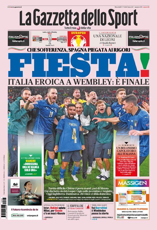 Ιταλία-Ισπανία: Τα πρωτοσέλιδα