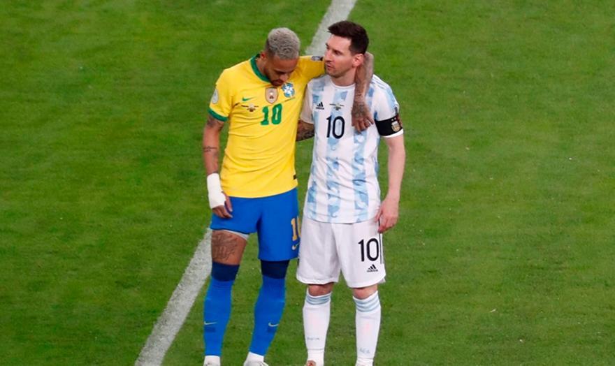 Αργεντινή-Βραζιλία: Η αγκαλιά του Μέσι στον Νεϊμάρ