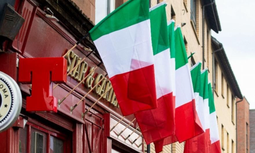 Γλασκώβη: Μαγαζιά με σημαίες της Ιταλίας εν όψει τελικού!