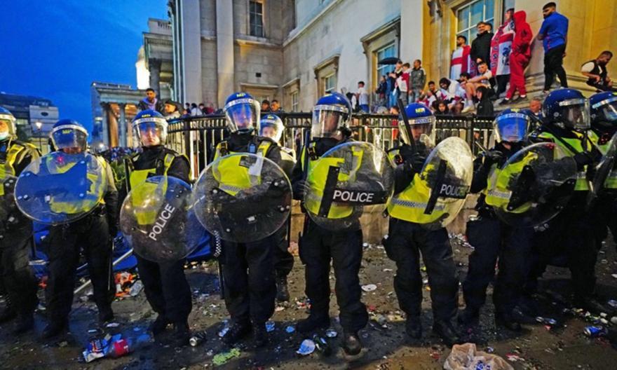 Αγγλία: 86 συλλήψεις μετά τον τελικό του Euro