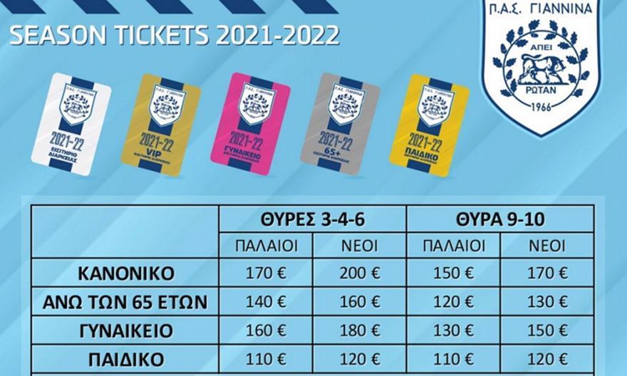 Τα εισιτήρια διαρκείας του ΠΑΣ για τη νέα σεζόν