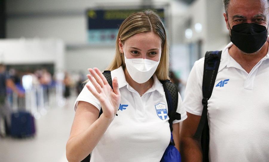 Κορακάκη: Αναχώρησε για τους Ολυμπιακούς Αγώνες