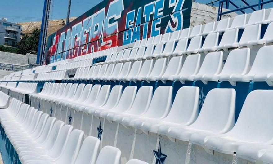 Ιωνικός: Τοποθετήθηκαν τα καρεκλάκια στο γήπεδο