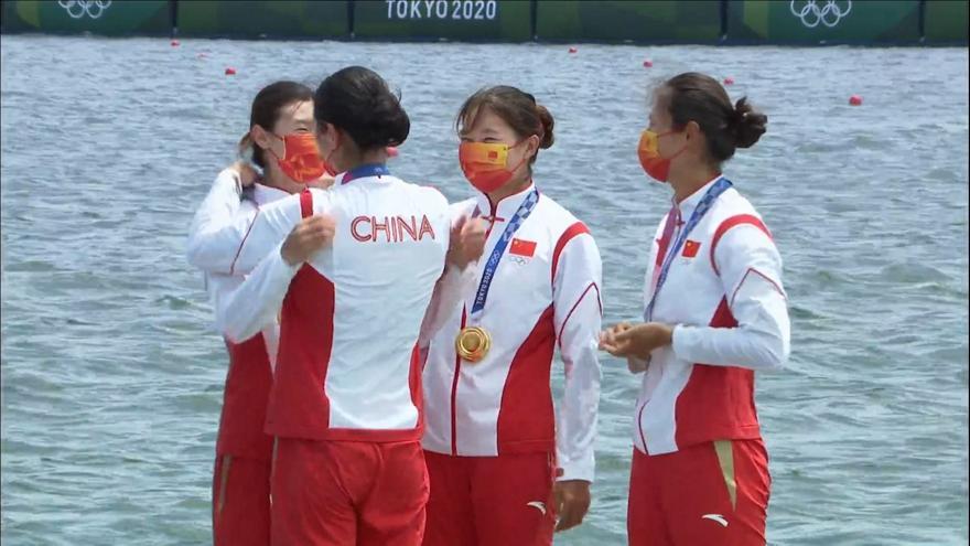 Η Κίνα το χρυσό με νέο Ολυμπιακόρ ρεκόρ στο τετραπλό σκιφ