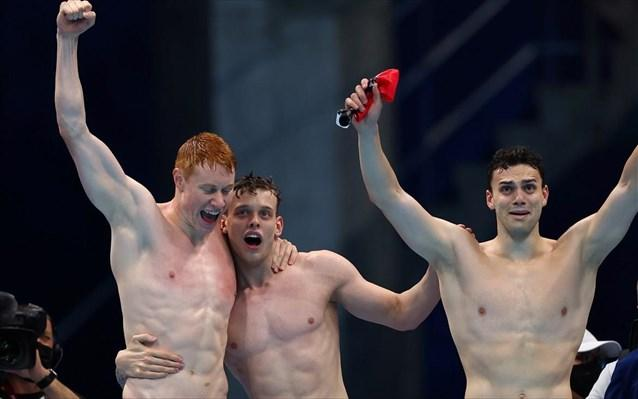 Χρυσοί οι Βρετανοί στα 4Χ200μ. της κολύμβησης