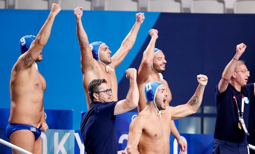 Πόλο ανδρών: Ελλάδα-Ιαπωνία 10-9