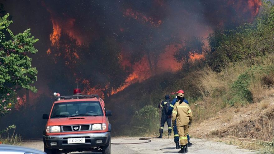 Αχαΐα: Ολονύχτια μάχη με τις φλόγες