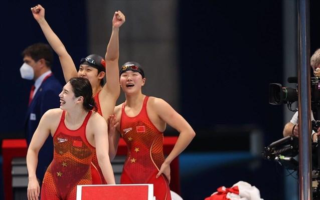 Ιστορικό χρυσό με παγκόσμιο ρεκόρ η Κίνα στα 4Χ200 ελεύθερο