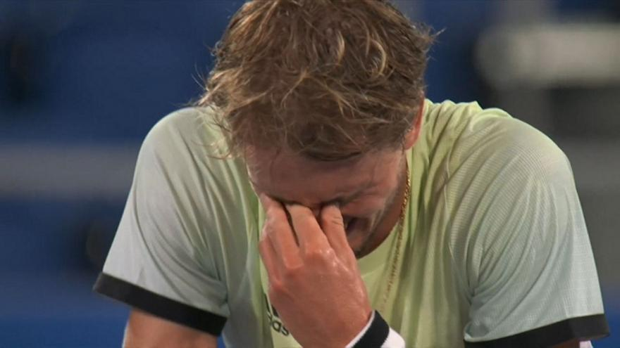 Ζβέρεφ: Ξέσπασε σε κλάματα για την πρόκριση στον τελικό