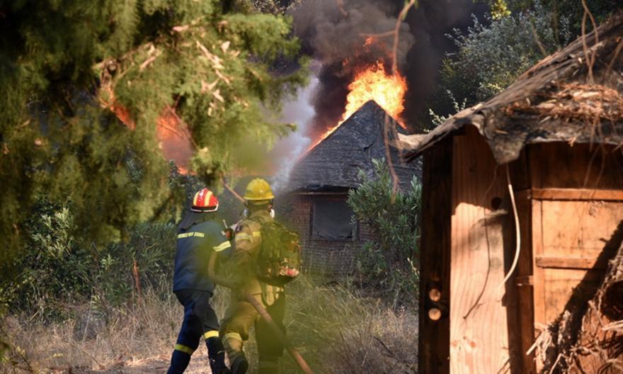 Φωτιά στην Αχαΐα: Μαίνεται ανεξέλεγκτη, κάηκαν πάνω από 20!