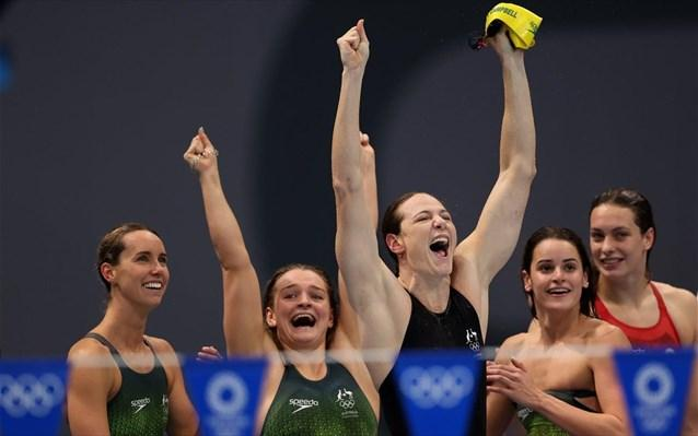 Κολύμβηση: «Χρυσή» η Αυστραλία στα 4Χ100 μικτή ομαδική