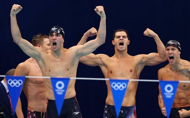 Κολύμβηση: Χρυσό με παγκόσμιο ρεκόρ οι ΗΠΑ στα 4Χ100μ