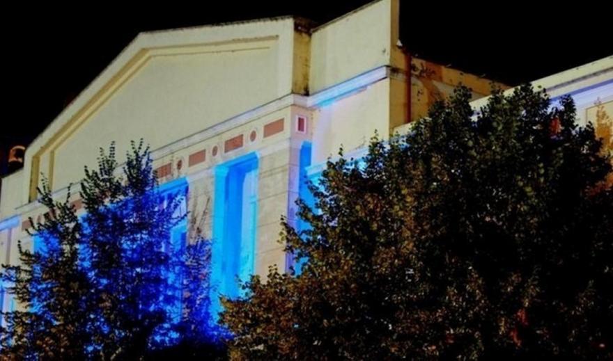 Φωταγωγείται το δημαρχείο Γρεβενών για τον Τεντόγλου