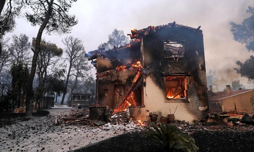Βαρυμπόμπη: Η φωτιά από Νέα Κηφισιά και Ερυθραία!