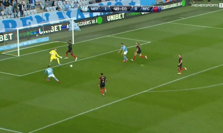 Μάλμε: Δύο γκολ σε τρία λεπτά στη Ρέιντζερς