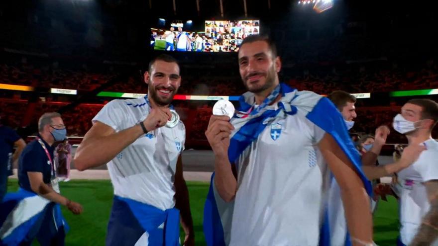 Οι Έλληνες αθλητές στην τελετή λήξης