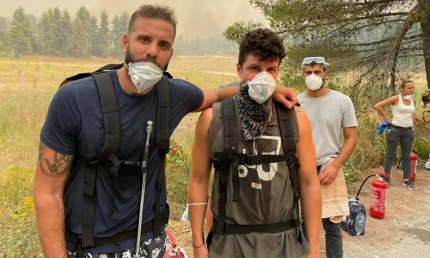 Νίκος Παππάς: Στη μάχη με τις φλόγες στην Εύβοια!