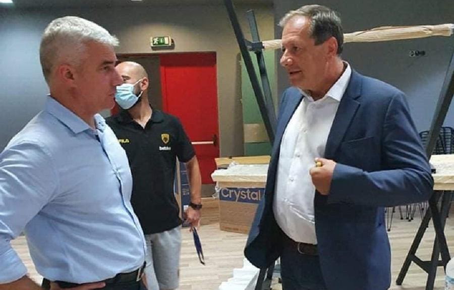 ΑΕΚ: Στην προπόνηση ο Μάκης Αγγελόπουλος