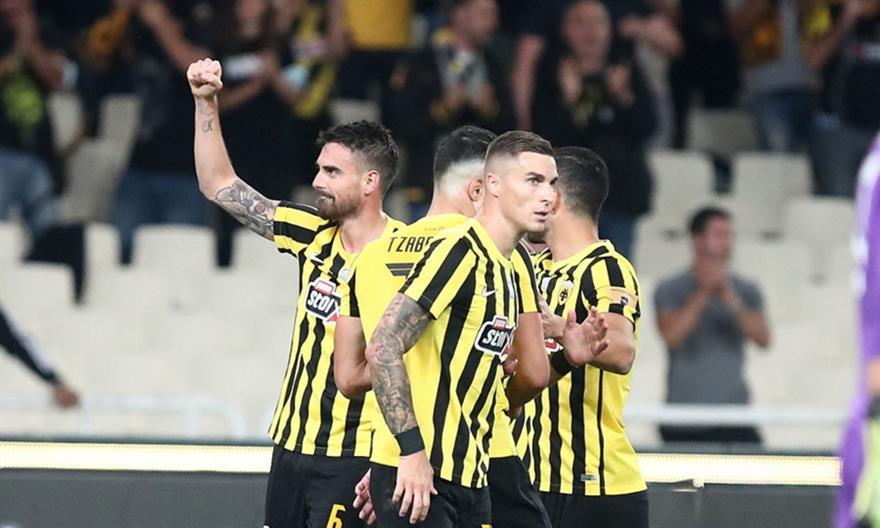Ασίστ Μάνταλου για το 1-0 της ΑΕΚ με τον Λε Ταλέκ