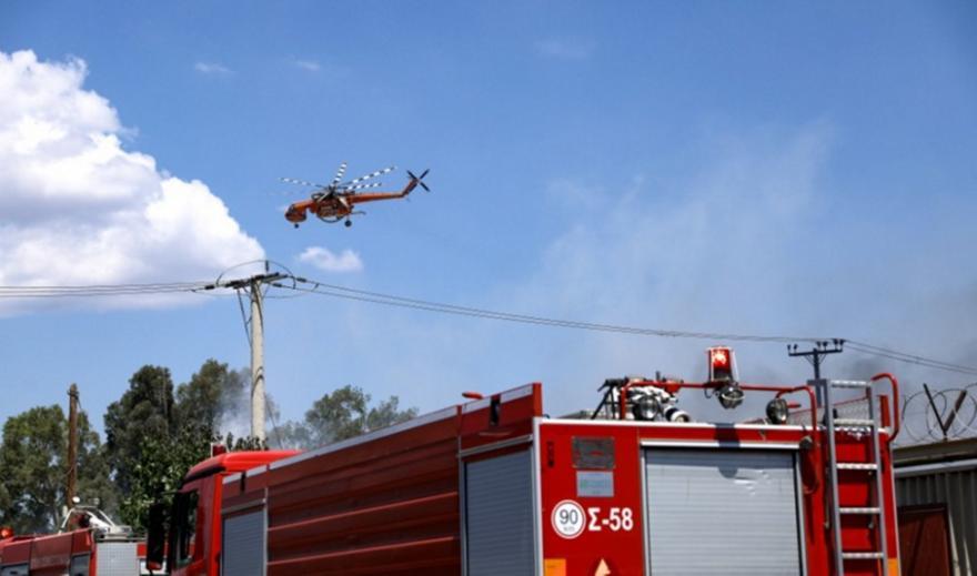 Πάρνηθα: Φωτιά σε δασική έκταση