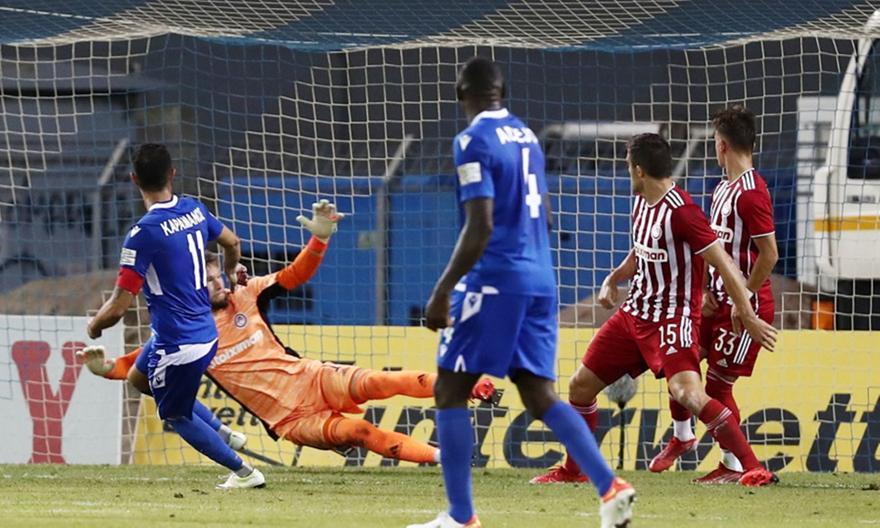 Το γκολ του Καραμάνου που μείωσε (2-1) για τη Λαμία κόντρα στον Ολυμπιακό