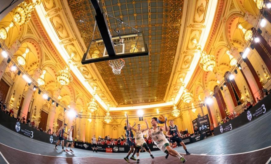 Ρουμανία: Μπάσκετ 3x3 σε αίθουσα του Κοινοβουλίου