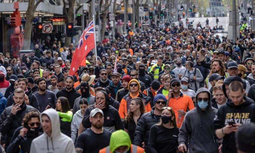 Μελβούρνη:Θετικός αντι-εμβολιαστής που συμμετείχε σε πορεία