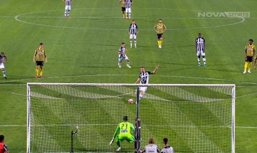 ΠΑΟΚ-ΑΕΚ: Το 2-0 με πέναλτι του Κούρτιτς