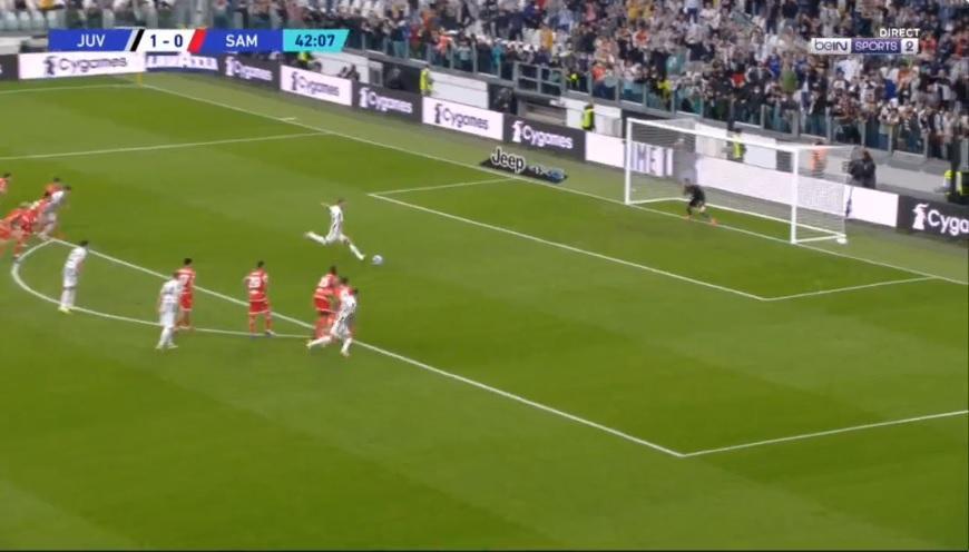Δεύτερο γκολ η Γιουβέντους, μείωσε αμέσως η Σαμπντόρια